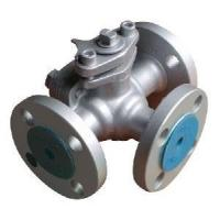 T Type Cast Steel 3 Way Ball Valve with Flange Connection for Water Industry