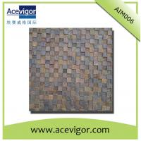 Quality Wooden mosaic wall tiles with uneven surface and 3D effect for decoration wholesale