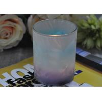 Quality Unique Design Glass Candle Holders Feather Painted Candle Glass Jars wholesale