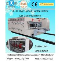 Quality Die-Cutter / Slotter Carton Making Machine 150pcs/min , 1.5mm Slotting Precision wholesale
