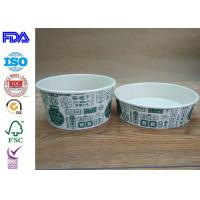 Quality Disposable Food Grade Paper Salad Bowls For BBQ With FDA Certification wholesale