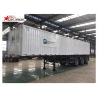 Quality Box 3-4 Axles Flatbed Container Trailer 60-100Tons Dry Food Van Transport wholesale