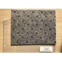 Quality Anthracite Flower Dotted Polyester Needle Punched Felt Fabrics For Anti Slip Floor Carpet wholesale