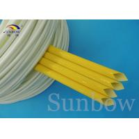 Quality Fray resistant Saturated Silicone Fiberglass Sleeving , heat proof cable sleeve wholesale