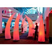Cheap 3M High Inflatable Lighting Decoration With LED Light and Blower Air Cone For Event Welcome part for sale