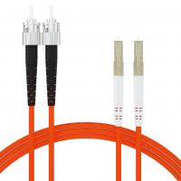 Buy cheap LC UPC to ST UPC Duplex OM2 Fiber Optic Patch Cord for longer transmission with low loss Fast from wholesalers