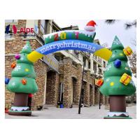 Cheap Custom Size Inflatable Candy Cane Arch For Christmas Decoration , CE / SGS for sale