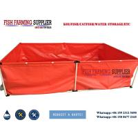 Quality Foldable Large Plastic Fish Ponds Polyethylene Fish Tanks wholesale