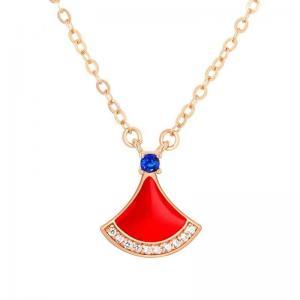 China GZ New Design Fashion Women  Ginkgo biloba  Gold Pendant Necklaces jewelry 2021 on sale