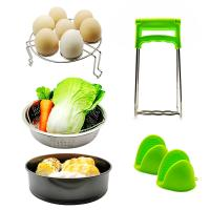 China 10pcs Various Combination Kitchen Set, Double Boiler Set Pressure Cooker Accessories Basket Pot Disk Holder Silicone Food Clip on sale