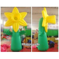 Quality 4m Giant Decorative Inflatable Stand Flower for Event and Arboretum Decoration wholesale