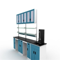 China 1.2mm Suspended Steel Laboratory Furniture With Glass Doors on sale