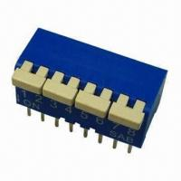 Buy cheap Piano Dip Switch, 2PST, Available in Red/Blue/Black from wholesalers