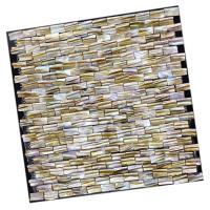 Quality Brick River Shell 3d Mosaic Tiles , Shell Backsplash Tile For Bathroom Decorative wholesale