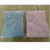 Quality Micro Bubble Blankets/Embossed Short Fleece Blankets, 2 Layers wholesale