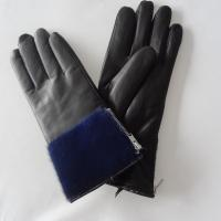 Quality Sheepskin Womens Soft Leather Gloves Wool Lining Simple Classic Style wholesale