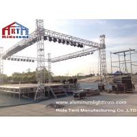 Quality Light Duty Stage Light Truss , Spigot Overhead Square Truss System 400 X 60mm Size wholesale