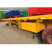 Quality 12500*2500mm Flatbed Full Trailer Truck 28T JOST Landing Gear wholesale