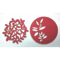Quality 7cm Red Fine Promotional Coaster Gifts Cheap Home Decorative Items of Paper Cuts Pictures wholesale