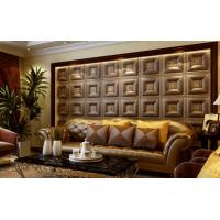 Cheap Customized Auditorium Deco Material 3D Wall Board / Leather 3D Wall Paper Light weight for sale