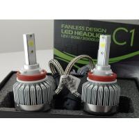 Quality 6000 Lumen 12 Volt LED Headlight Bulbs H8 / H9 / H11 COB Fanless 6000K wholesale