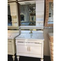 Quality Furniture Style Embossing PVC Bathroom Cabinet For Hotel Bathroom Decoration wholesale