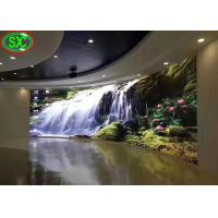 China Curved Indoor Led Display Board , Led Video Display Panel Solution P3.91/P4.81 on sale