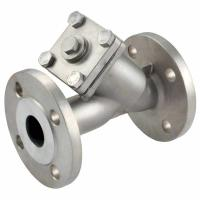 China asme b 16.34 stainless steel y strainer,ss316,3inch flanged end,class 150LB,drain plug on sale