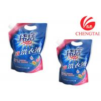 Quality Hang Hole Stand Up Pouch with Spout for Laundry Detergent Packaging wholesale