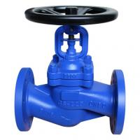 China DIN 3356 Standard Bellow Sealed Globe Valve.BB,DN150,RF flanged to pn16 on sale