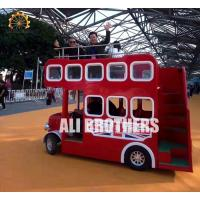 Cheap Playground Tourist Trackless Train Ride London Bus Ride 18 P Capacity for sale
