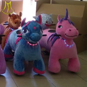 China Hansel safari animals toys electric unicorn ride amusement park ride equipment on sale