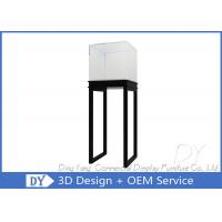 Quality S/ S Jewelry Pedestal Display Case / Free Standing Jewelry Tower Showcase wholesale