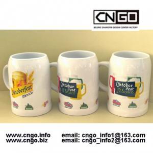 Quality High quality white beer mug ceramic beer mug custom colors LOGO 500ML beer mug wholesale