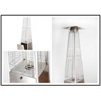 Quality Tall Quartz Glass Tube Patio Heater , Powder Coated / Stainless Steel Gas Patio Heater wholesale