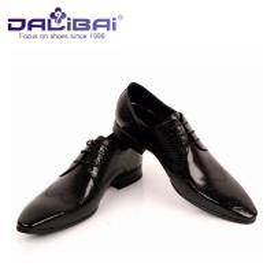 Quality DALIBAI Luxury Pointed Toe Men Leather Dress Shoes Classic Business Shoes wholesale