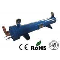 China Water Cooled Condenser ,R22,R410A  Refrigeration Tubular Condenser single machine red copper Aluminium Brass tube on sale