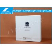 Quality White Square Cosmetic Packaging Boxes , Elegant Rigid Paper Eco Friendly Gift Boxes wholesale