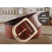 Quality Braided Womens Leather Belt In Brown Color , Female Leather Belts For Long Life wholesale