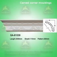 Quality Fashion carved pu crown moldings wholesale