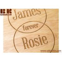 China Ustic Edge Or Eco-Friendly Hevea Wood Personalised Couple's Names Venn Diagram Round Board on sale