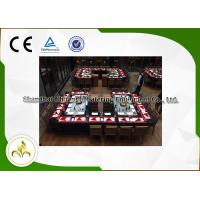 Quality Stainless Steel Rectangle Shape Gas Teppnayaki Grill Table Back-to-Back Double Stove wholesale