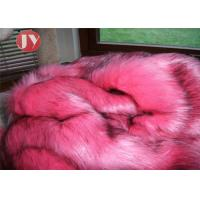 Quality Bubblegum Pink Faux Fur Fabric , Animal Print Faux Fur Fabric Black Flecks 65mm wholesale