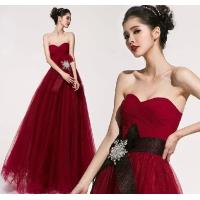 Quality Custom Chiffon Sexy Sweetheart neckline party dresses for Prom , Red wholesale