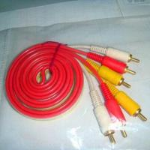 Quality RCA cable/transparent 3-color cable, 1.5m length, Ø2.8mm over diameter wholesale