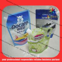 Quality lovely detergent spout pouch packaging with hang hole wholesale