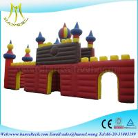 China Hansel popular PVC inflatable island for commercial castle on sale