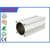 China Four Ears Pneumatic Cylinder Tubing Round Aluminum Extrusion Profiles 80 Mm Inner Dia on sale