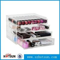 Cheap wholesale clear acrylic cosmetic makeup organizer with drawers for sale