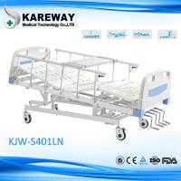 Buy cheap Five Functions Manual Hospital Bed With Food Tray , ABS Head Board Steel Cranks product
